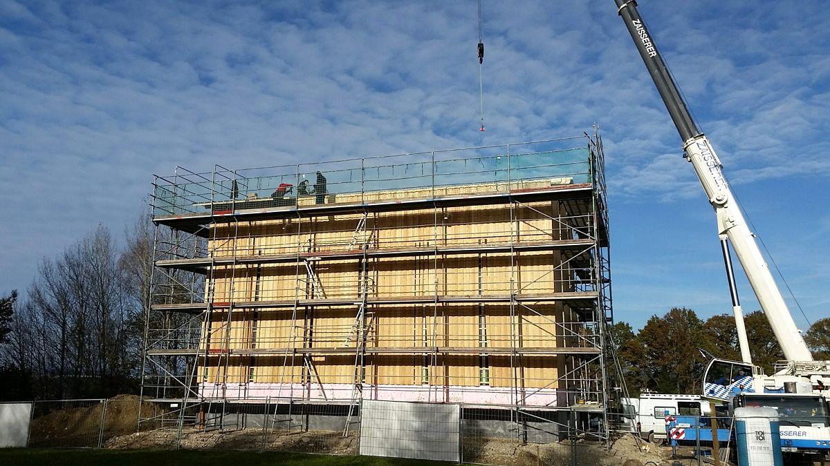 Bau des neuen Hochbehälters in Schonstett